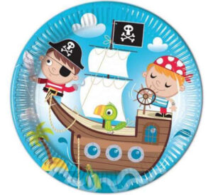 pirat paptallerken pirat børnefødselsdag