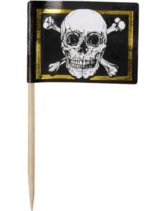 guld pirat flag børnefødselsdag pirat kage dekoration