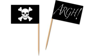 pirat flag kagedekoration pirat kage
