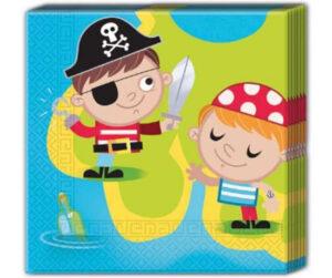 pirat servietter børnefødselsdag