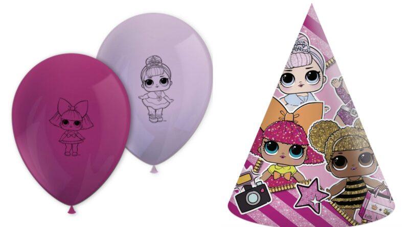 lol surprise fødselsdag, lol fødselsdagstema, borddækning til lol fødselsdag, l.o.l fødsesdag, lol festartikler