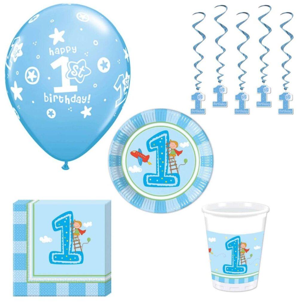 første fødselsdag børnefødselsdag 1 år blå dreng fødselsdag