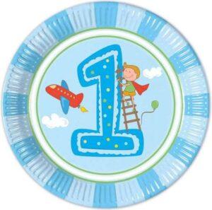 paptallerken 1 års fødselsdag