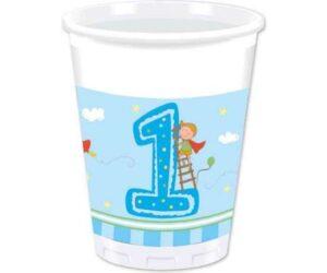 papkrus 1 års fødseldag blå