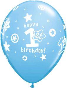 blå balloner 1 års fødselsdag